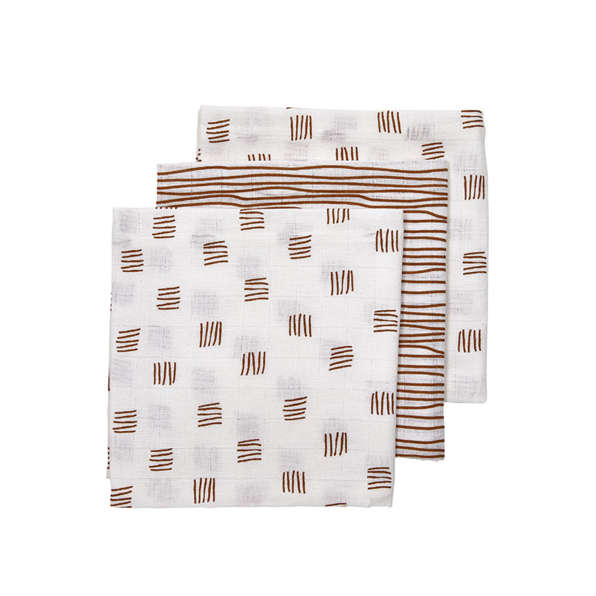 Meyco Hydrophilic Diapers Block Stripe - 3-Pack